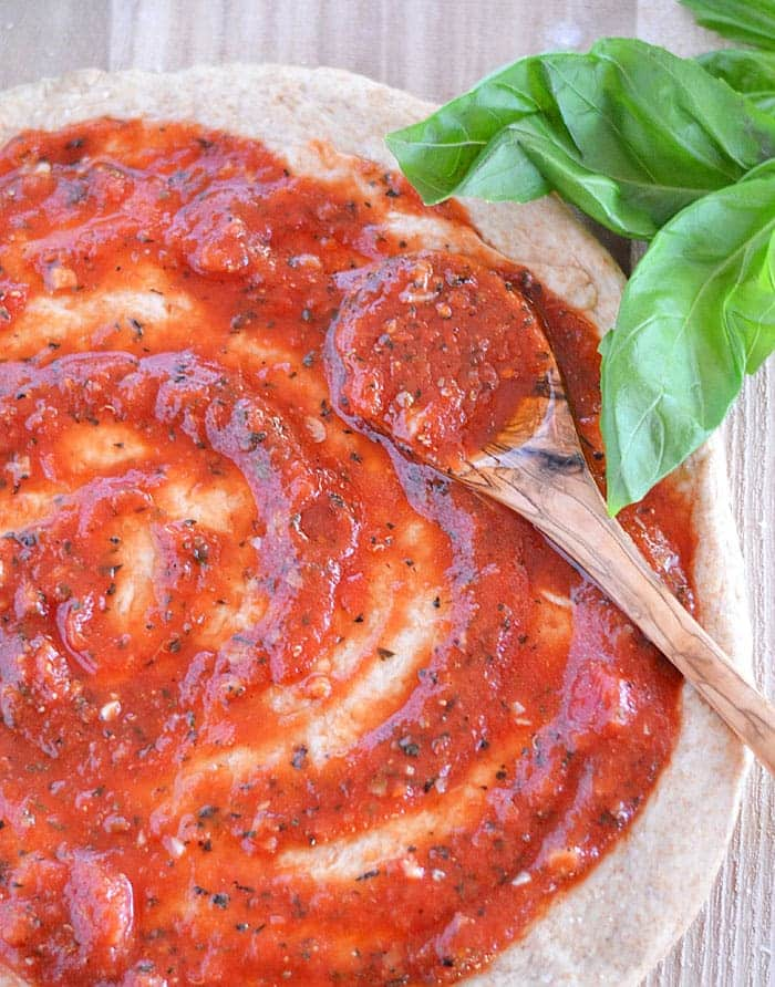 Make this Simple Tomato Sauce in just five minutes - trust me, your pizza night will never be the same again!