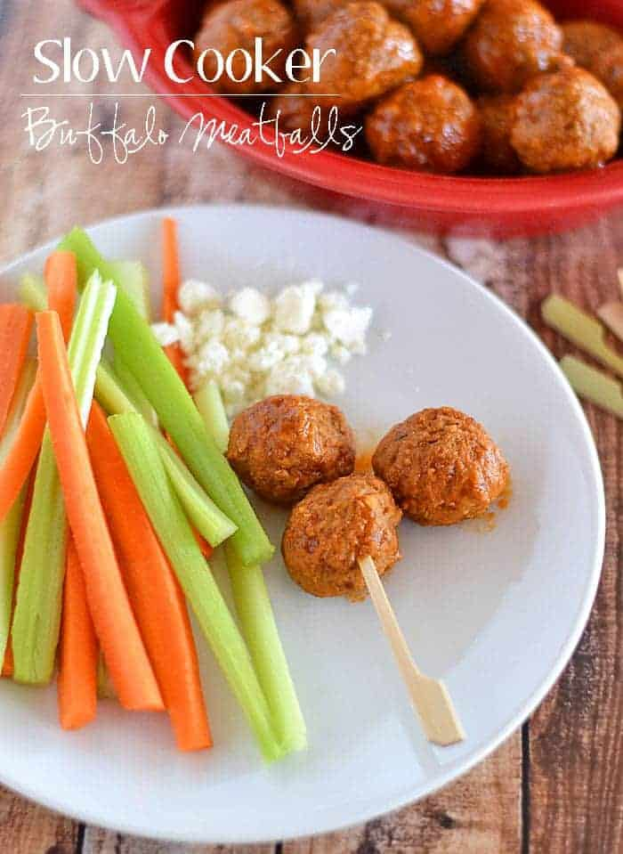 These Slow Cooker Buffalo Meatballs are the perfect addition to your game day menu.  With just a few simple ingredients needed to make the sauce, you'll be set for entertaining!