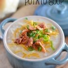 This Slow Cooker Potato Soup is creamy and comforting, and requi