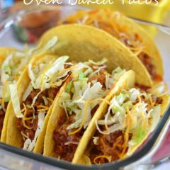 Sloppy Joe Oven Baked Tacos