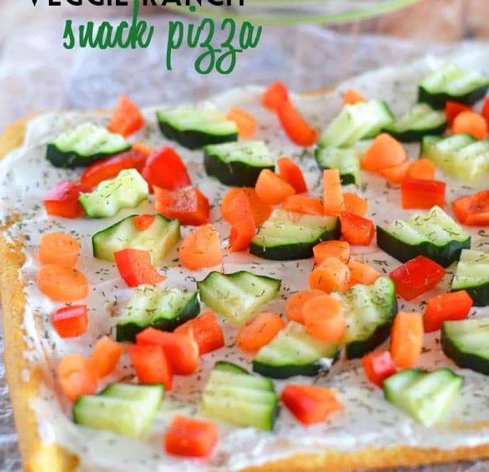 Veggie Ranch Snack Pizza