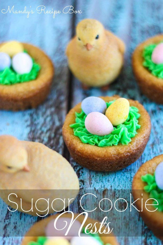 Sugar Cookie Nests on Mandy's Recipe Box