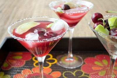 Cherry-Lime Margaritas
