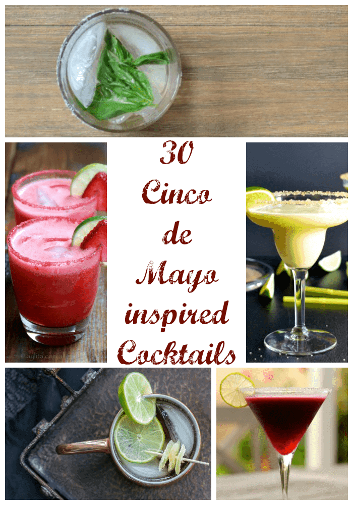 30 Cinco de Mayo Inspired Cocktails | KitchenMeetsGirl.com