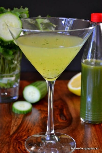 Fiery Green Martini