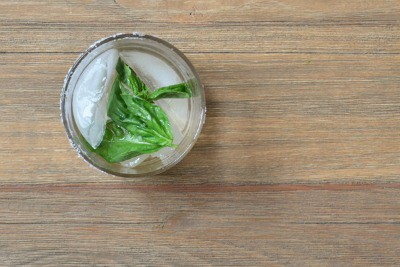 Margaritas with Lemon & Basil