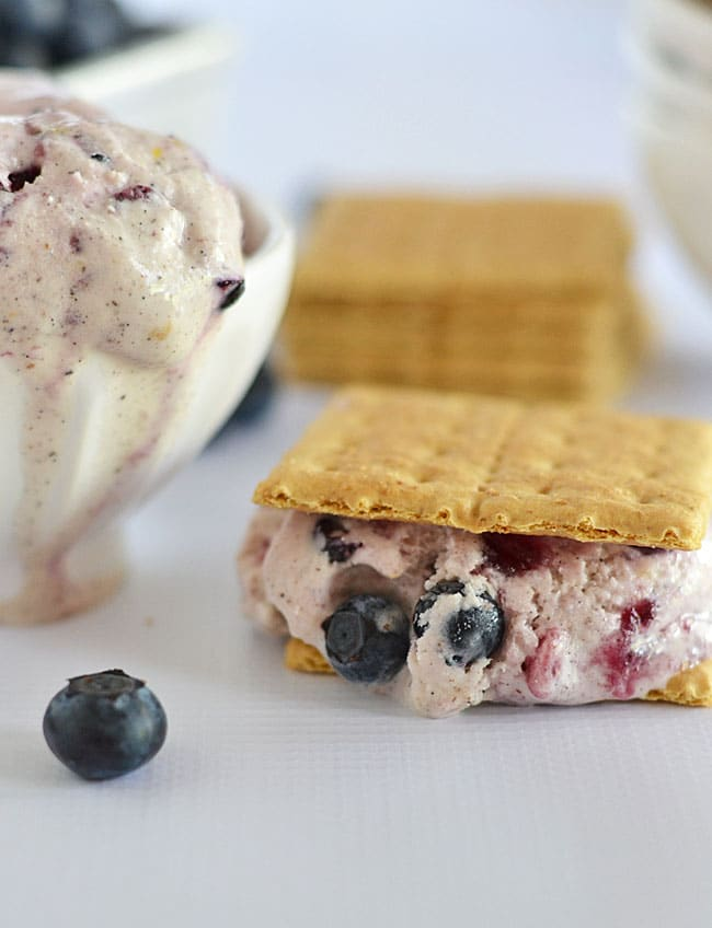 Filled to the brim with loads of berries, cream cheese, and buttermilk, this blueberry cheesecake ice cream will be tops on your summer recipe list this year!