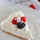 Frozen Coconut Berry Pie