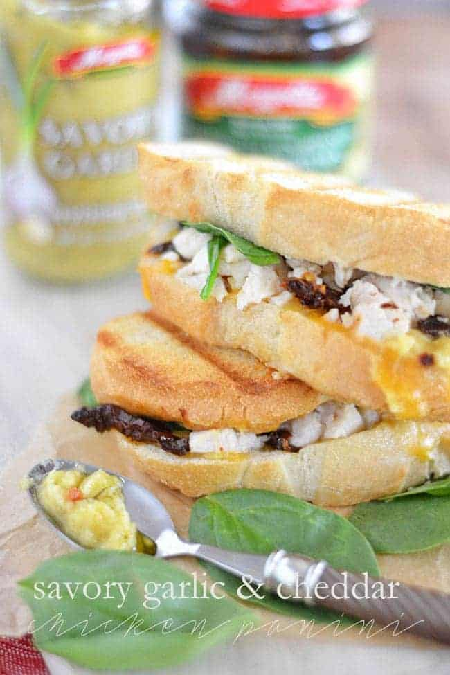 Savory Garlic and Cheddar Chicken Panini