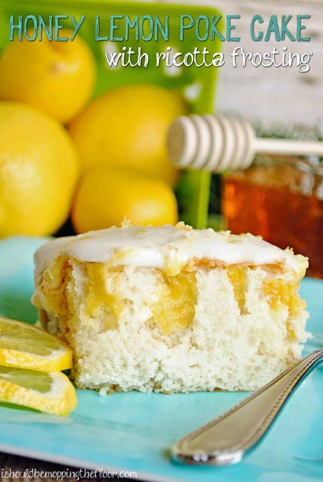 honey lemon poke cake