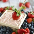 Strawberry Cheesecake Fruit Dip