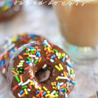 Chocolate Mocha Frosted Donuts