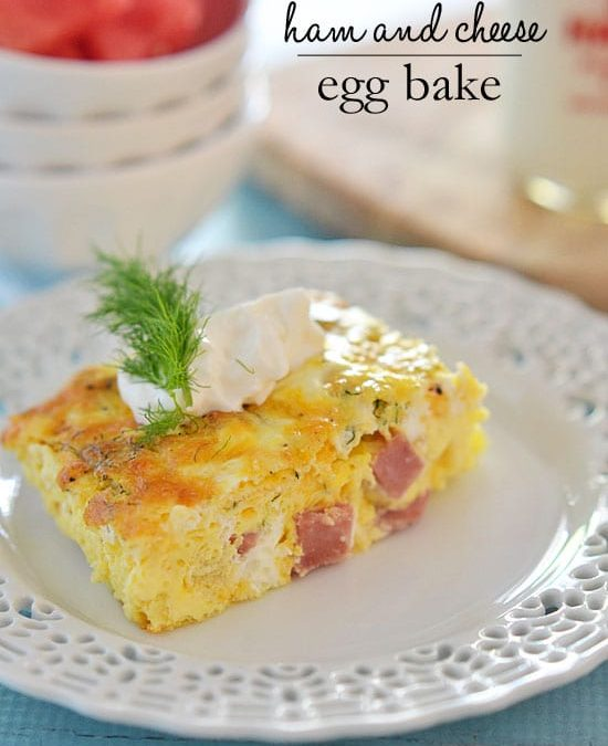 Ham and Cheese Egg Bake