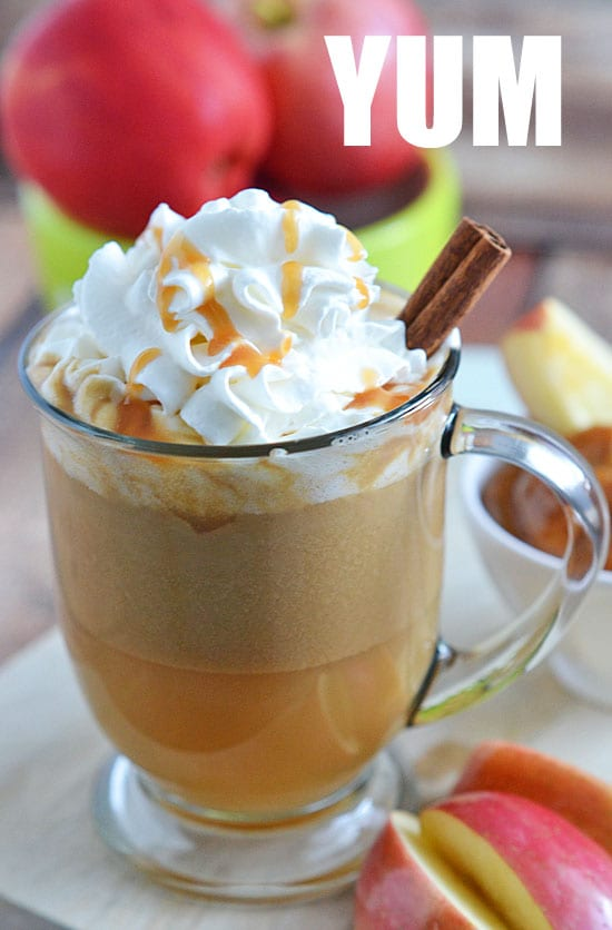 This Salted Caramel Apple Cider is the perfect way to warm up on cool fall nights. With just a few ingredients and 10 minutes, you'll be sipping your way to fall flavors in no time!