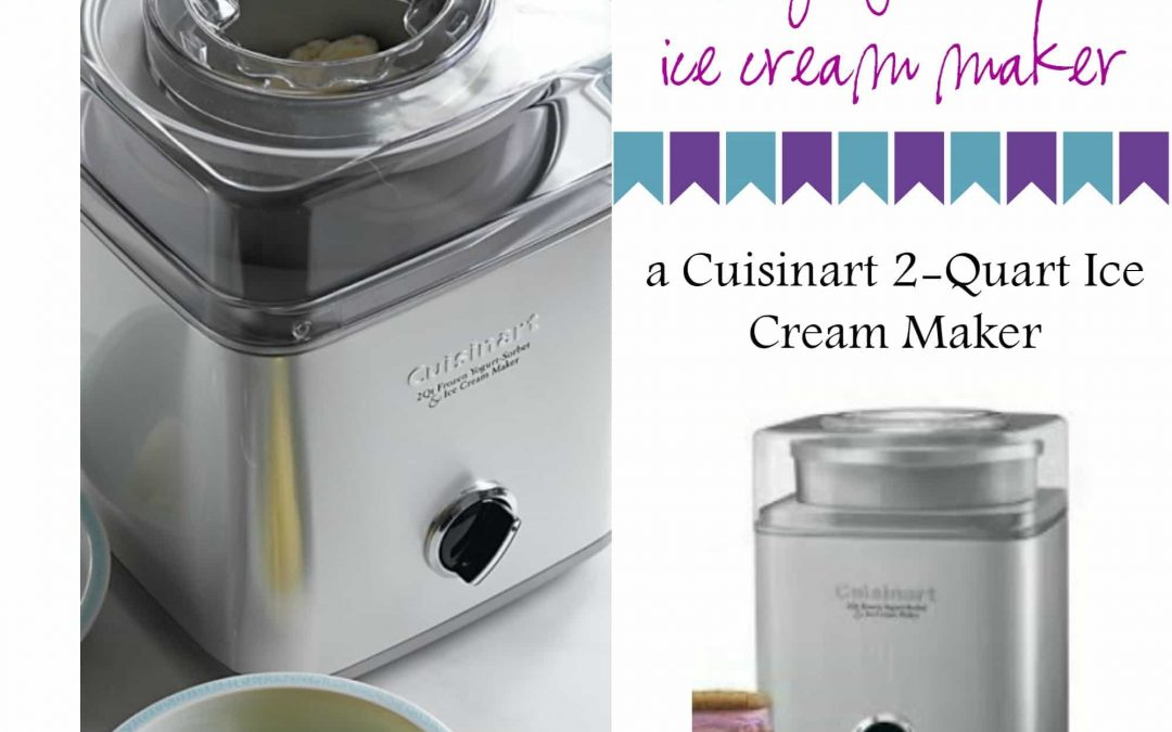 Favorite Ice Cream Maker Giveaway