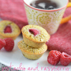 Pistachio and Raspberry Financiers