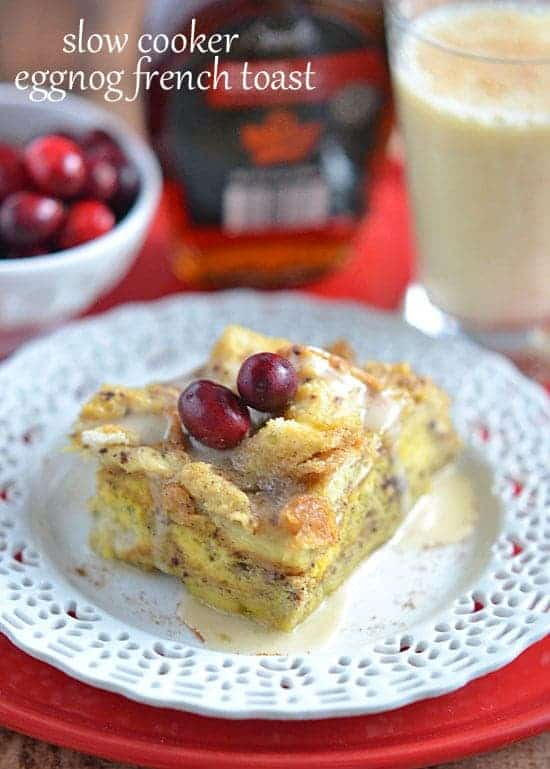 Slow Cooker Eggnog French Toast
