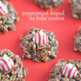 Peppermint-Kissed No Bake Cookies