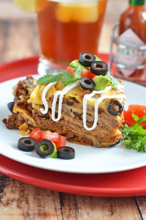deep dish enchilada pie