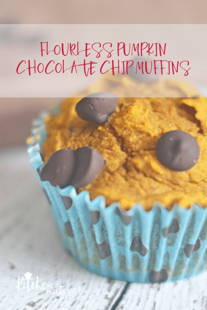 A gluten-free muffin that is packed full of flavor, yet healthy, nutritious and easy to make. Perfect for grab-and-go, kids and adults alike will love these flourless pumpkin chocolate chip muffins for breakfast, dessert, or even a snack.