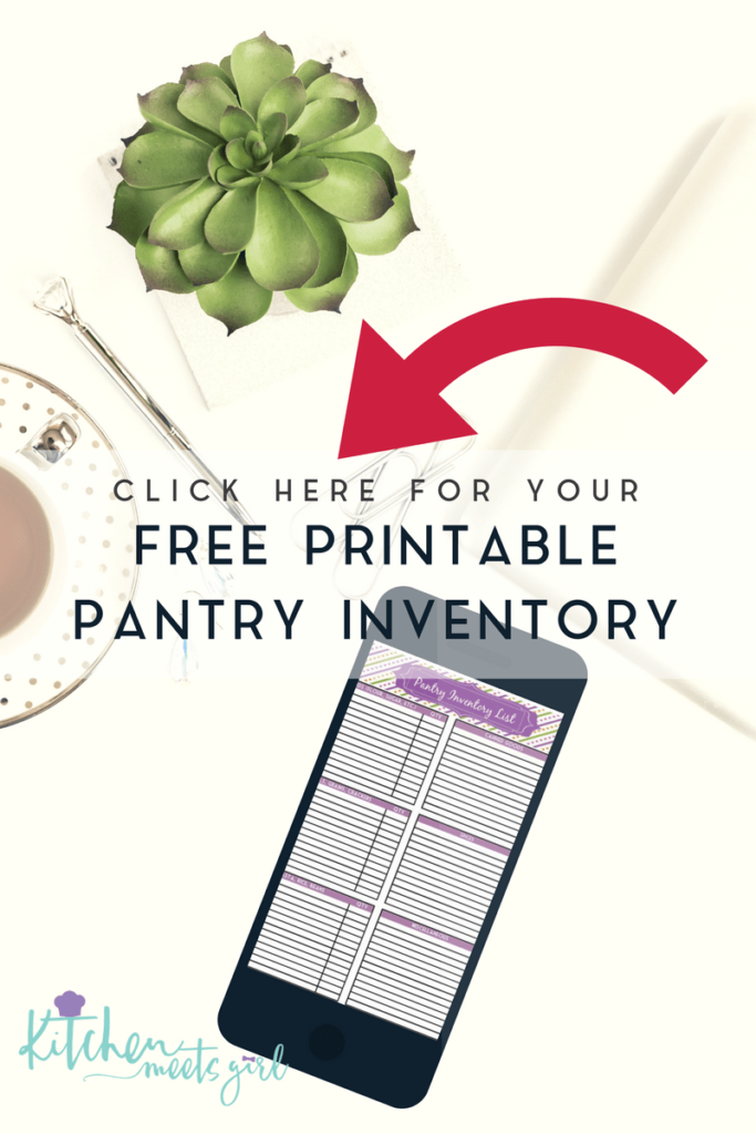 Why should you keep a pantry inventory list?  Simple.  This one little sheet will save you time, money, and keep you organized.