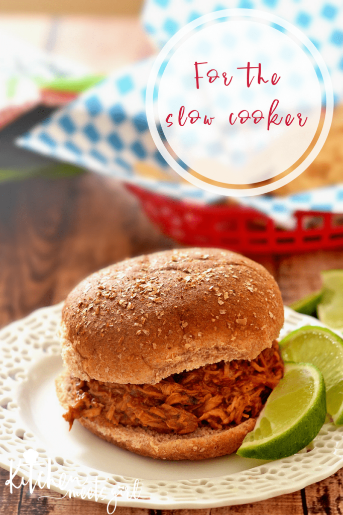 Busy nights coming your way? Let your slow cooker do the work and make these Slow Cooker BBQ Lime Chicken sandwiches - a simple, three ingredient meal that your whole family will love!
