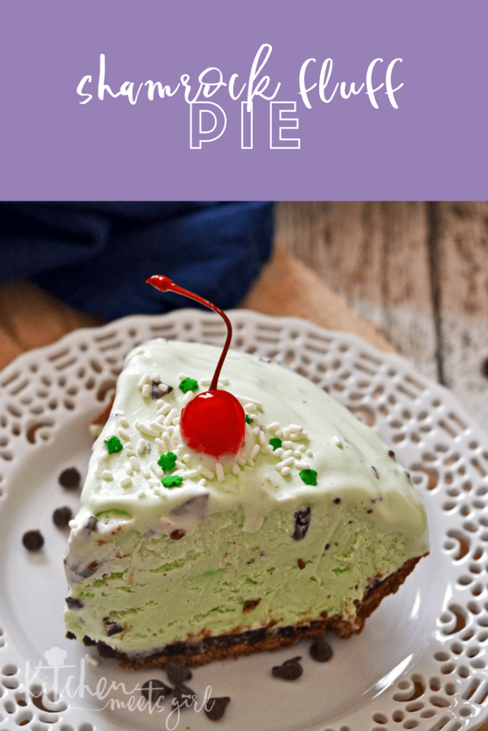 Shamrock Fluff Pie is an easy no-bake dessert that is light, minty and perfect for any occasion.