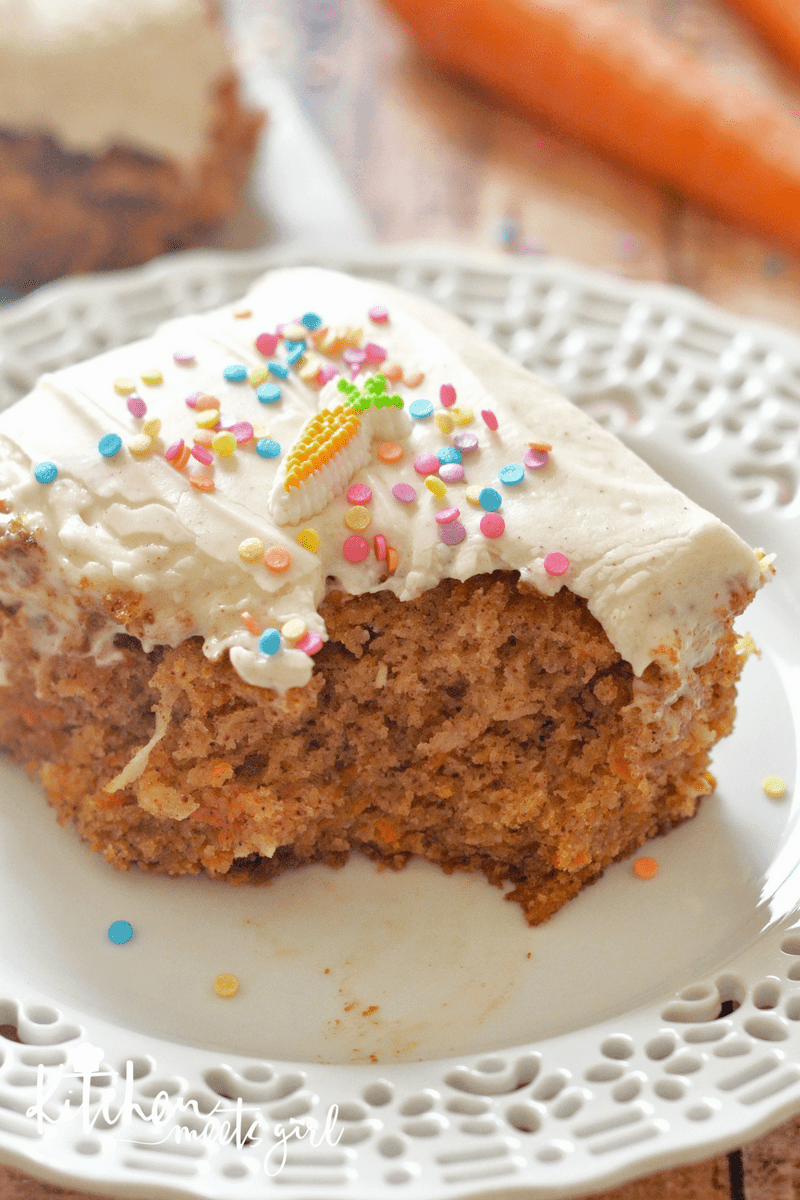 Simple, moist, and delicious. This Best Ever Carrot Cake with Cinnamon Cream Cheese Icing packs a flavor punch with the comforting flavors of cinnamon and spice. It's bursting with carrots and coconut, and piled high with frosting. Your spring table won't be complete without it.