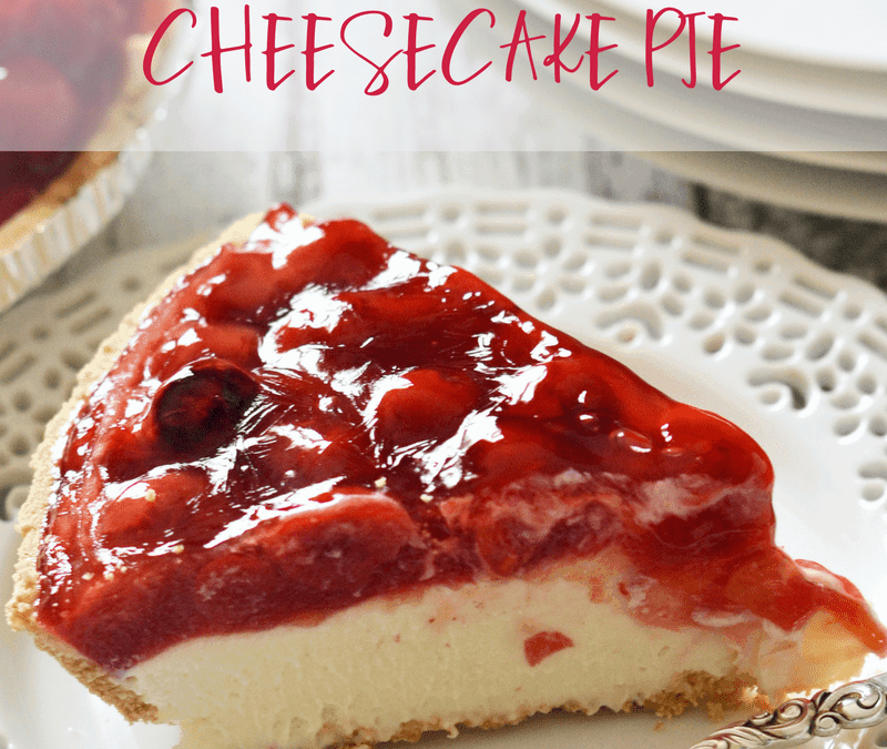 Simple Cherry Cheesecake Pie