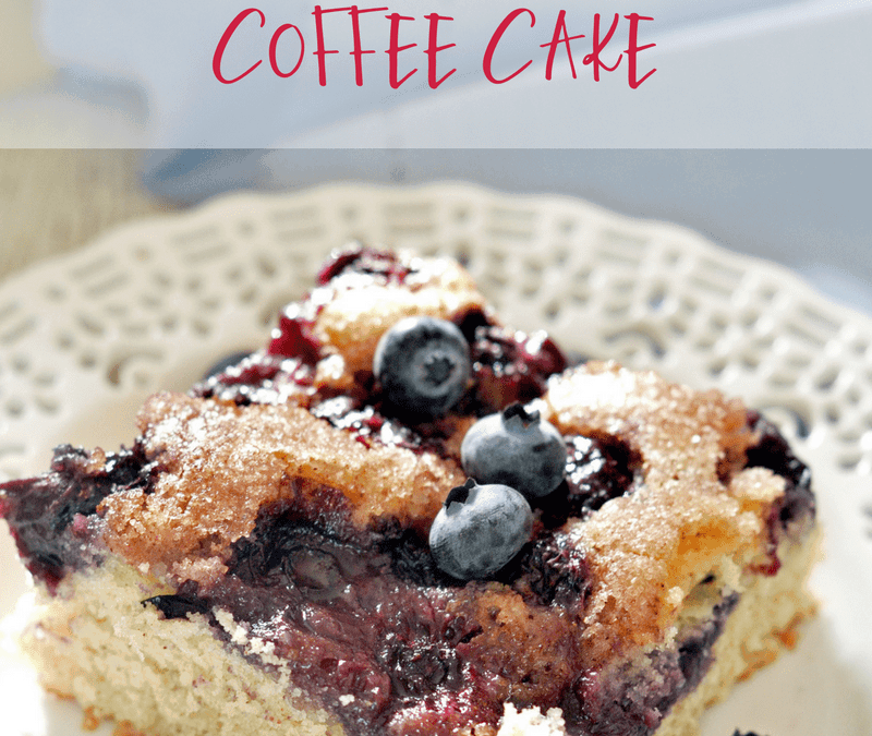 One Bowl Blueberry Coffee Cake