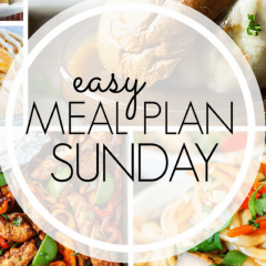 Meal plan Sunday