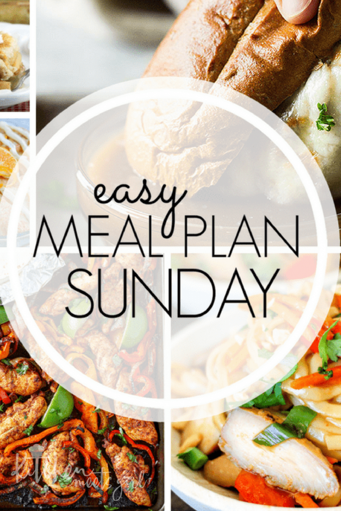 Easy Meal Plan Sunday {Week 1}