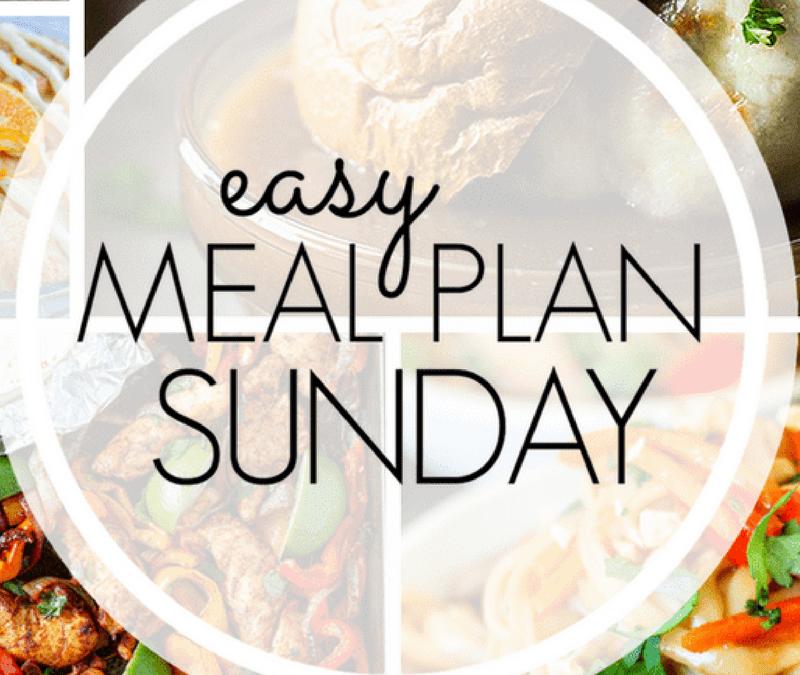 Easy Meal Plan Sunday {Week 1}