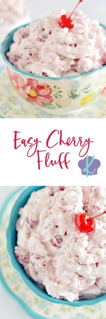 Easy Cherry Fluff is a sweet and pretty dessert that is perfect any time of year, and it always gets rave reviews. The best part? It's super easy - just dump, stir, and eat!