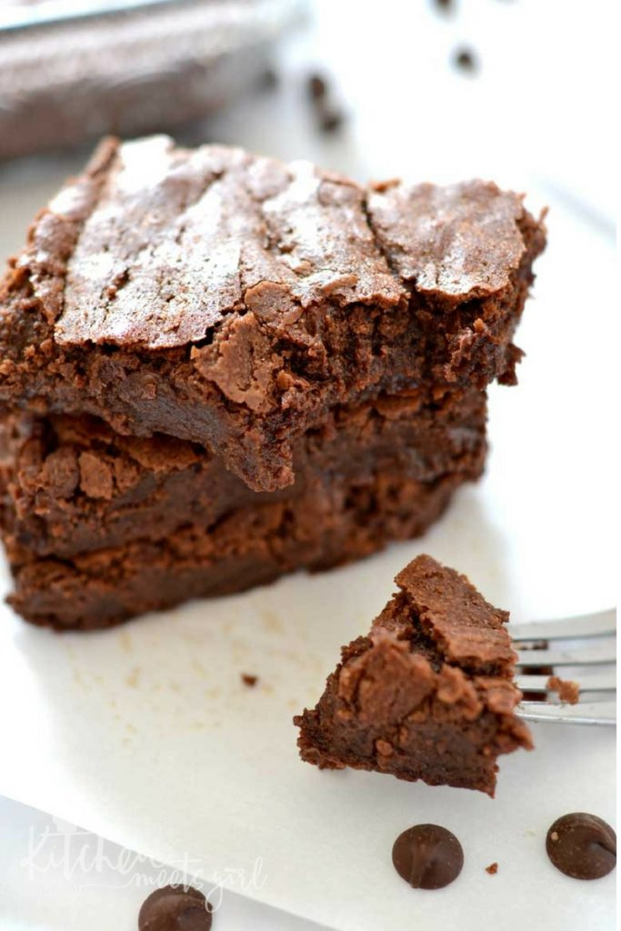 Double Chocolate One Bowl Brownies are a perfectly decadent treat that you won't be able to resist! One bowl, five minutes, and asecret ingredient take these brownies over the top!