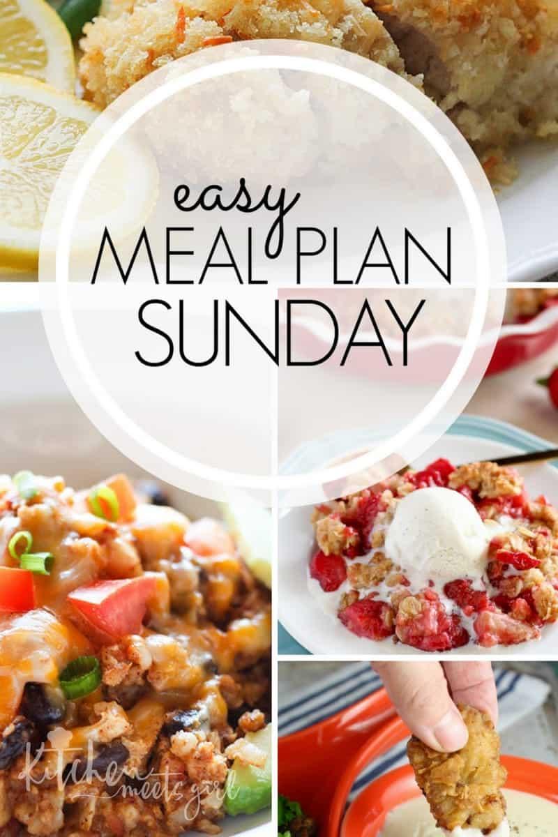 Lemon Parmesan Chicken – Easy Meal Plan Sunday {Week 4}