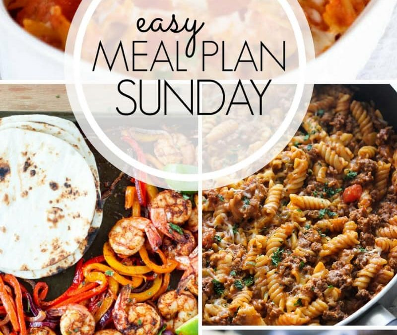 Sheet Pan Shrimp Fajitas – Easy Meal Plan Sunday {Week 6}