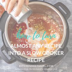 Do you have a favorite family recipe but don't have time to stand over the stovetop to make it? Try these easy tips for how to turn almost any recipe into a slow cooker recipe and take back valuable time in the kitchen!